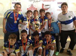 Equipe Sub 9 - Premiação Jampa Open FutSal 2013